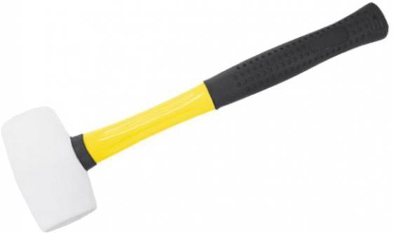 Киянка FIT 45502 резиновая белая фиброглассовая ручка 50мм ( 340гр.) рулетка fit 50м фиброглассовая лента 17550