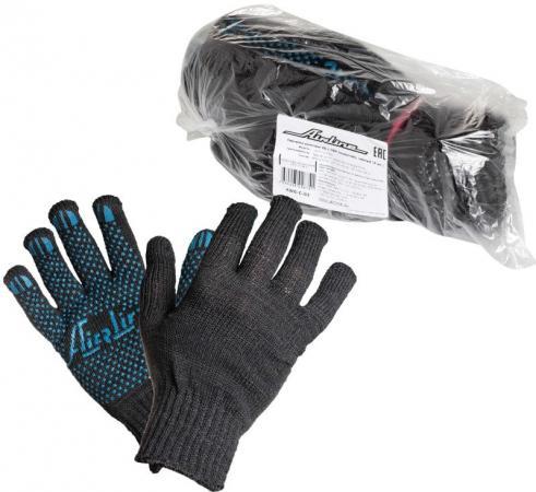 Купить Перчатки AIRLINE AWG-C-03 хб с пвх покрытием черные 5 пар 140т/7.5 класс