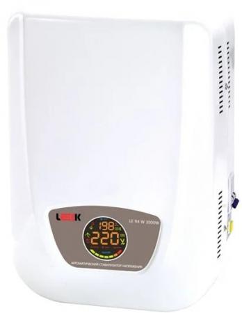 Стабилизатор напряжения LEEK LE R4 W 3000W (настен) 140-270V, IP20 (2) рел. leek le ck60 led 5w 3k e27 100