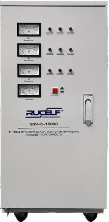 Стабилизатор RUCELF SDV-3-15000 трехфазный 15000ВА трехфазный релейный стабилизатор энергия voltron рсн 30000