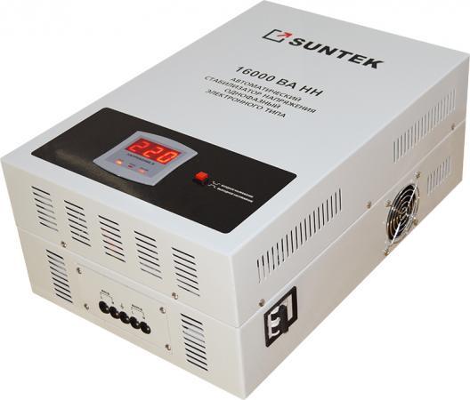 все цены на Стабилизатор напряжения SUNTEK 16000 ВА-НН 16000 Вт, погрешность: 8%, Выходное напр.:209-231 В онлайн