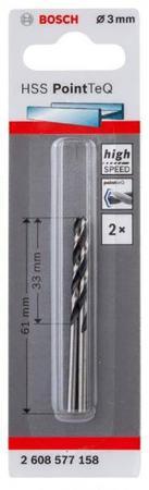 Сверло BOSCH 2.608.577.158  Ф3.0 мм HSS PointTeQ (2шт)