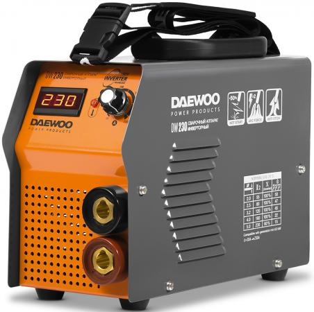 Аппарат сварочный инверторный DAEWOO DW 230 230А 7600Вт Ф1,6-5мм сварочный аппарат daewoo dw 160 mma