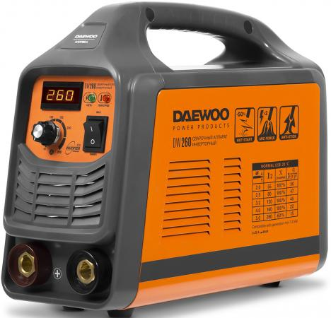 Аппарат сварочный инверторный DAEWOO DW 260 260А 8500Вт Ф1,6-5мм сварочный аппарат daewoo dw 160 mma