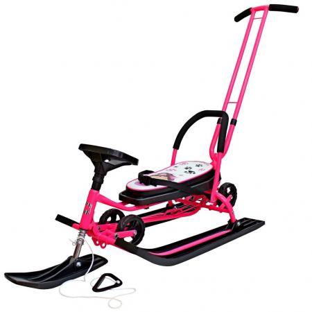 Снегокат БАРС Mobile до 100 кг Пластик сталь розовый рисунок 7004 цена