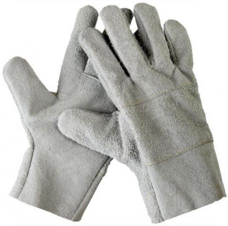Перчатки СИБИН 1134-XL рабочие кожаные из спилка xl цена и фото