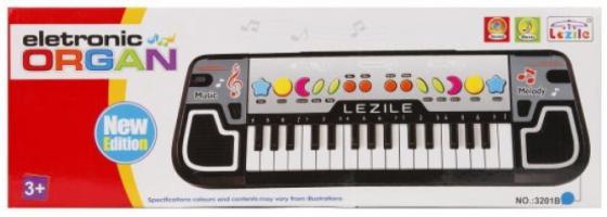 цена Синтезатор Lezile 32 клавиши, запись, батар.AA*3шт. в компл.не вх., кор.