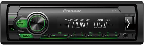 Автомагнитола Pioneer MVH-S110UBG 1DIN 4x50Вт автомагнитола cd pioneer deh x8700bt 1din