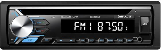 Автомагнитола CD Swat DEX-3029UB 1DIN 4x50Вт автомагнитола swat chr 5140 2din 4x50вт