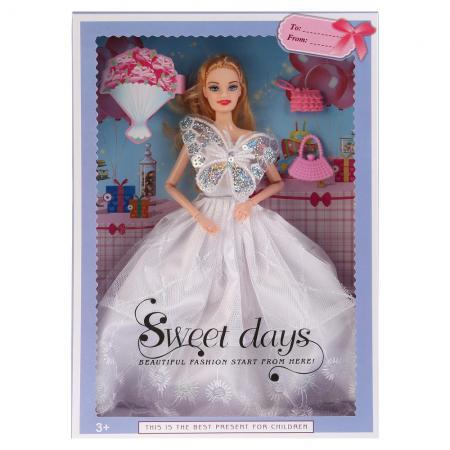 Кукла Shantou Кукла 29см, гнущаяся, с аксесс., цвет в ассорт. 502 29 см шарнирная кукла мария 29 см в ассорт