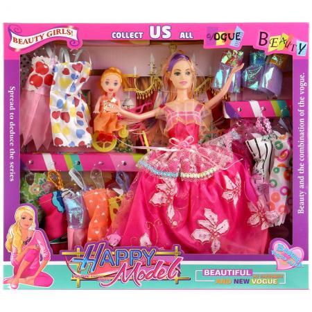 Кукла Shantou Кукла с дочкой, с набором одежды 29 см кукла yako m6579 6