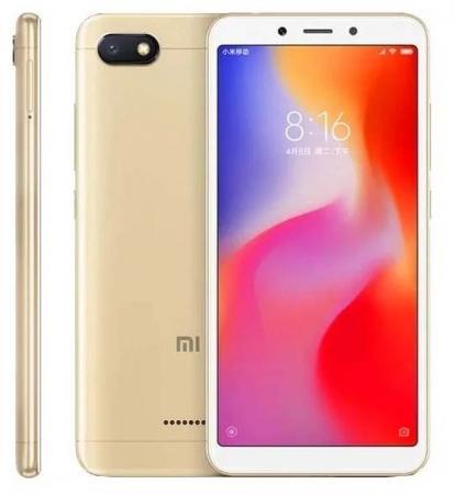 Смартфон Xiaomi Redmi 6A золотистый 5.45 32 Гб LTE Wi-Fi GPS 3G Bluetooth 18989