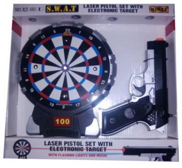 Пистолет Shantou Gepai B1589889 черный серебристый спортивная игра shantou gepai дартс 6927712691200