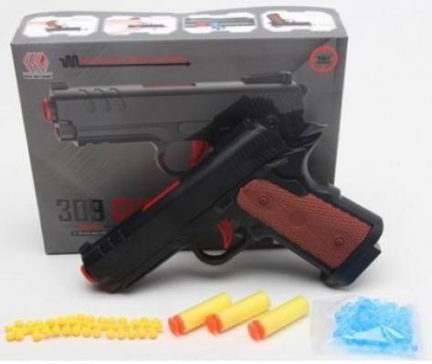 Пистолет Shantou Gepai B1671172 черный коричневый настольная игра shantou gepai аэрофутбол 5016