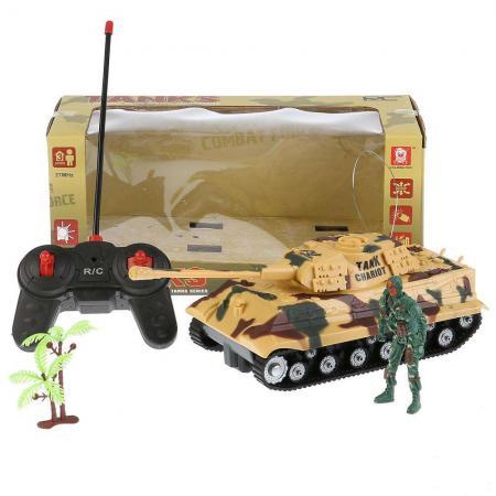 Танк на радиоуправлении Shantou Танк р/у свет+звук, с фигуркой и аксесс. AKX521A цвет в ассортименте от 6 лет пластик детский танк на радиоуправлении