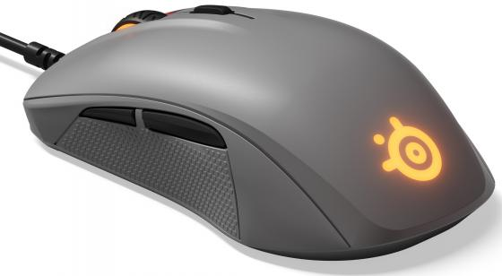Мышь проводная Steelseries Rival 110 серый USB мышь проводная steelseries rival 100 чёрный
