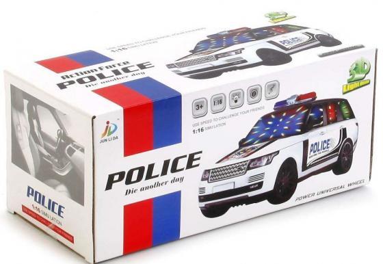 Полиция Shantou Gepai МАШИНА НА БАТ. СВЕТ+ЗВУК 802 1:16 белый машина р у shantou gepai sumptuous 1 16