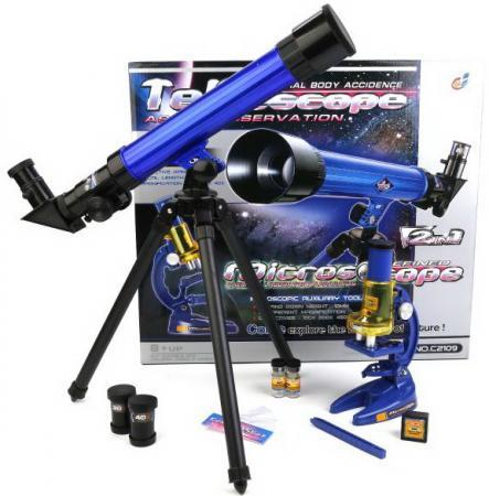 Игровой набор Shantou Телескоп-микроскоп телескоп deepsky dtf114x900eq4