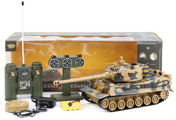 Танк на радиоуправлении YAKO YT6101-8 камуфляж от 6 лет пластик yako yako детская машинка на радиоуправлении авто таран