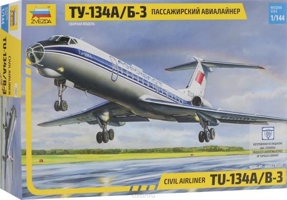 Самолёт Звезда Ту-134А/Б-3 1:144 серый цена