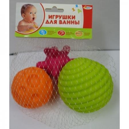 Игрушки для ванны Капитошка Игрушки пластизоль массажные мячики ПВХ от 1 года разноцветный