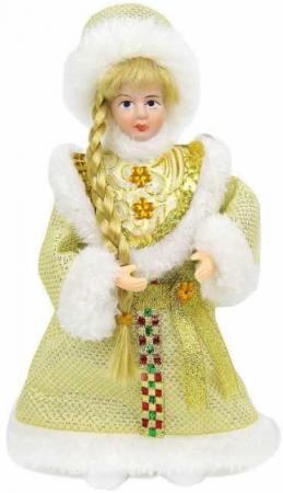 Кукла Снегурочка 20 см, золото. новогодняя сказка новогодняя сказка кукла снегурочка 35 см золотой