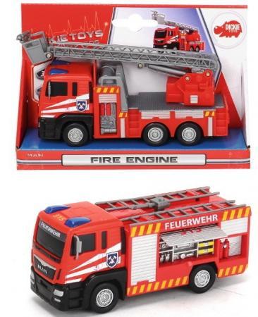 Пожарная машина Dickie 17 см разноцветный цена