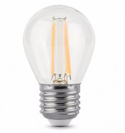 Лампа светодиодная диммируемая филаментная E27 5W 2700К прозрачная 105802105-D