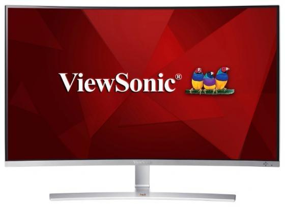 Монитор 32 ViewSonic VX3216-SCMH серебристый белый VA 1920x1080 280 cd/m^2 5 ms DVI HDMI VGA Аудио 21 5 asus vs229ha va 1920x1080 250 cd m^2 5 ms dvi hdmi vga 90lme9001q02231c