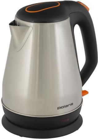 Чайник электрический Polaris PWK 1716CA 1.7л. 1800Вт черный/серебристый (корпус: сталь) чайник электрический sinbo sk 7362 серебристый