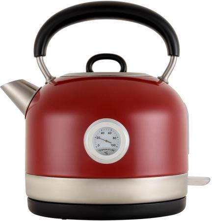 Чайник электрический Polaris PWK 1757CA 2200 Вт красный 1.7 л нержавеющая сталь цена и фото