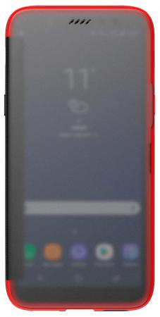 Чехол (флип-кейс) Samsung для Samsung Galaxy A6+ (2018) A Flip красный (GP-A605KDCFAIB) чехол флип кейс lazarr frame case для samsung galaxy s4 gt i 9500 красный