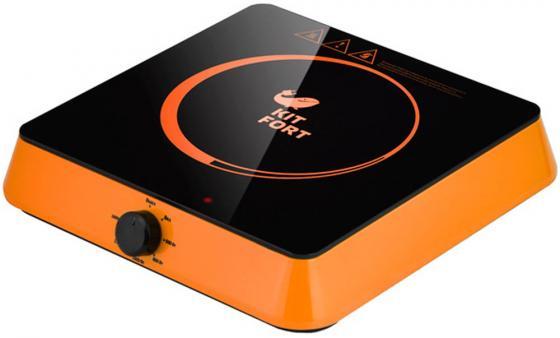 лучшая цена 113-3-КТ Индукционная плитка Kitfort Мощность: 1600 Вт.Длина шнура: 1,32 м. оранжевый