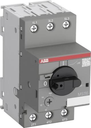 ABB 1SAM250000R1011 Автоматич.выключ. MS116-16.0 16 кА с регулир. тепловой защитой 10A-16А Класс тепл. расцепит. 10 телефонная розетка abb bjb basic 55 шато 1 разъем цвет черный