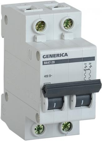 Iek MVA25-2-006-C Авт. выкл. ВА47-29 2Р 6А 4,5кА х-ка С GENERICA