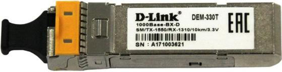D-Link 330T/10KM/A1A 1000BASE-LX Single-mode 20KM WDM SFP Tranceiver, support 3.3V power, LC connector модуль d link dem 220r 100base bx u single mode 20km sfp