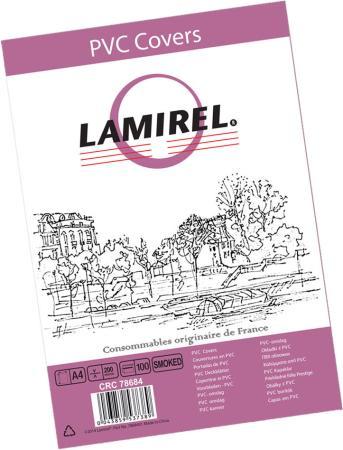 Lamirel Обложки Transparent LA-7868401 (A4, PVC, дымчатые, 200мкм, 100шт.)