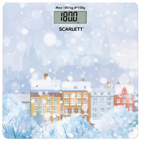 Весы напольные электронные Scarlett SC-BS33E032 макс.150кг рисунок весы напольные scarlett sc bsd33e894