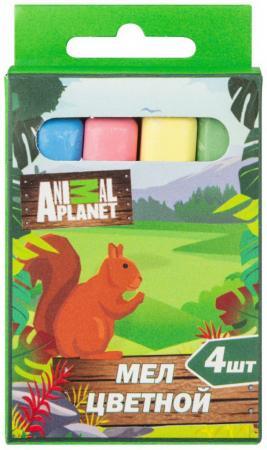 цена на Мелки школьные Action! Animal planet 4 штуки 4 цвета