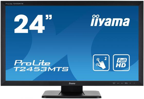 Монитор жидкокристаллический Iiyama Монитор LCD 23.6'' [16:9] 1920х1080(FHD) VA, nonGLARE, TOUCH, 250cd/m2, H178°/V178°, 3000:1, 12М:1, 4ms, VGA, DVI, HDMI, Tilt, Speakers, 3Y, Black lcd display touch screen digitizer assembly for thl t100s t100 1920 1080 fhd black color free shipping