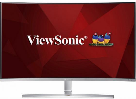 """Монитор 32"""" ViewSonic VX3216-SCMH-W-2 белый VA 1920x1080 280 cd/m^2 5 ms DVI HDMI VGA Аудио VS16577 монитор viewsonic vx2363smhl w white led"""