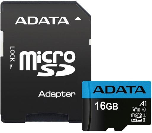 Фото - Карта памяти 16GB Premier A1 MicroSDHC UHS-I Class 10 ADATA 90/25 MB/s с адаптером a data карта памяти 16gb premier a1 microsdhc uhs i class 10 adata 90 25 mb s с адаптером