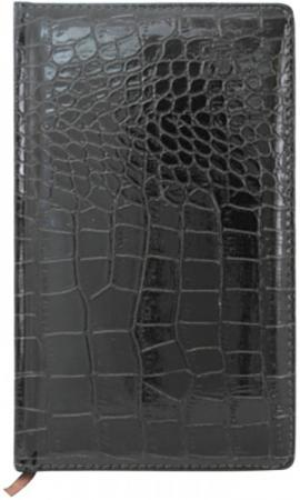 Телефонная книга CROCO, кожзам, черная, тонир.блок, с выруб., лин.,ляссе,192с.,разм.130*210мм