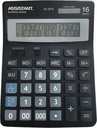 Калькулятор 16-разр., двойное питание, итоговая сумма, черный пластик, разм.200х150 мм калькулятор 12 разр дв питание дв память черный пластик большой дисплей разм 206х155х35 мм a