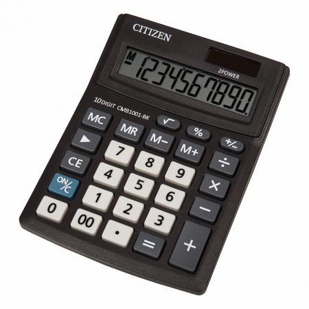 Калькулятор настольный Citizen BusinessLine 10-разрядный черный калькулятор citizen lc 310n карманный 8рр 7х11х2см черный