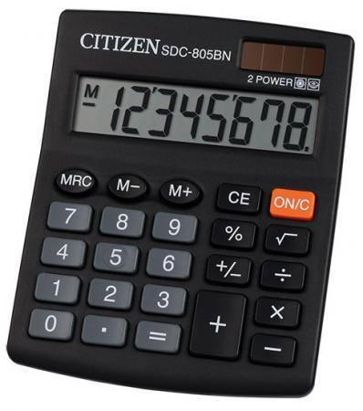 Калькулятор настольный Citizen SDC805BN 8-разрядный черный citizen em0430 85n