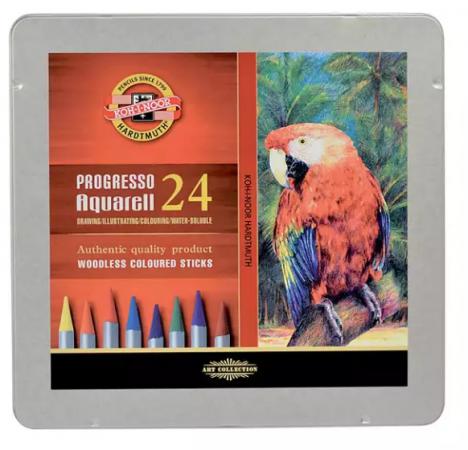 Набор карандашей цветных Koh-i-Noor Набор карандашей акварельных 24 цв. 24 штуки 24 цвета набор восковых карандашей 24 цв круглые диаметр 8 мм