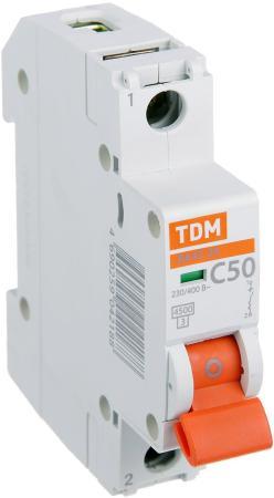 Автомат TDM SQ0206-0079 ВА47-29 1р 50а 4.5ка х-ка С автомат tdm sq0204 0014