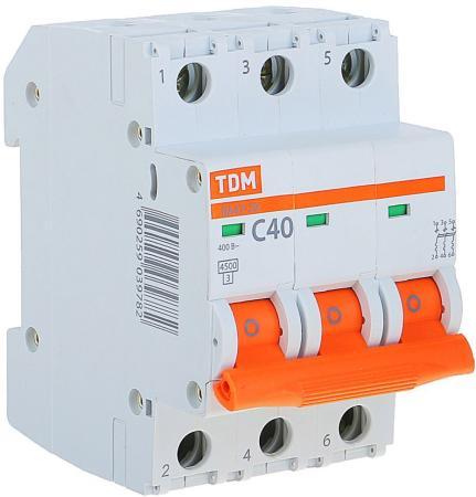 Автомат TDM SQ0206-0113 ВА47-29 3р 40А 4.5ка х-ка С