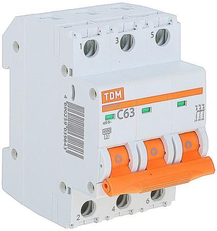 Автомат TDM SQ0206-0115 ВА47-29 3р 63А 4.5ка х-ка С автомат tdm sq0204 0014